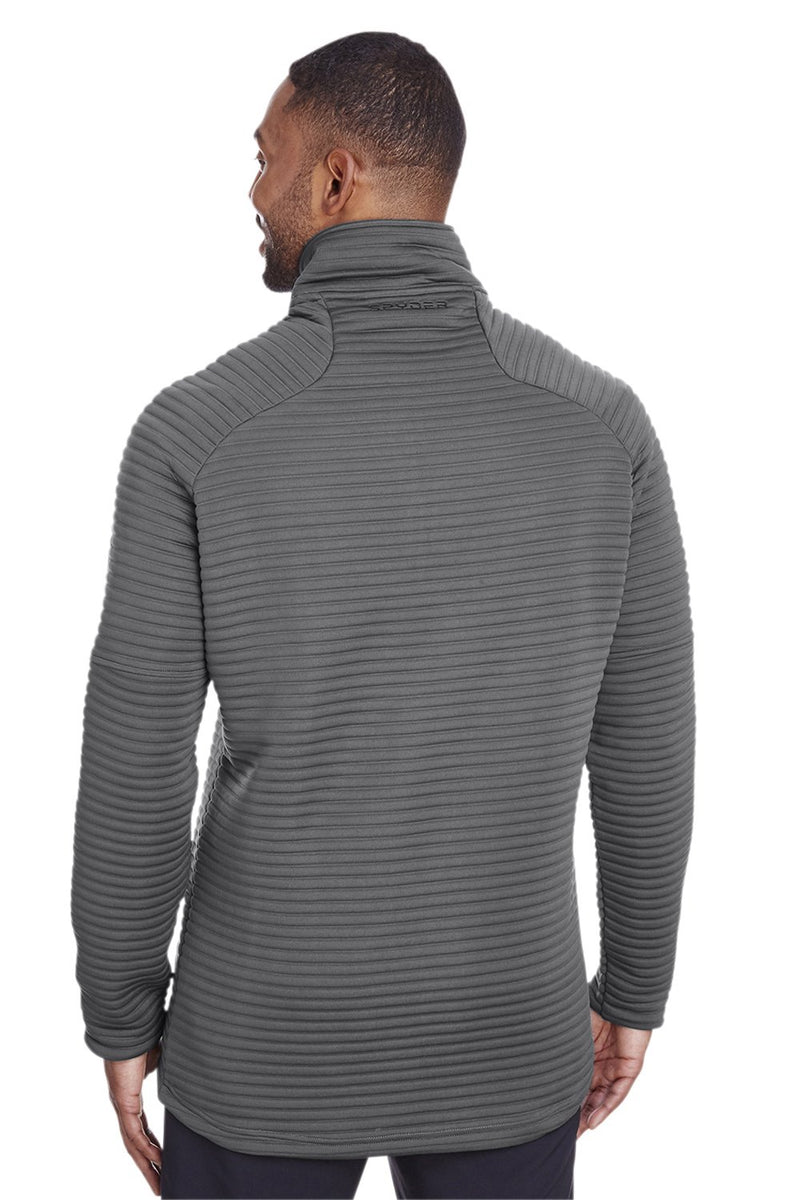 Dim Gray Spyder Men's Capture 1/4 Zip Fleece Sweatshirt