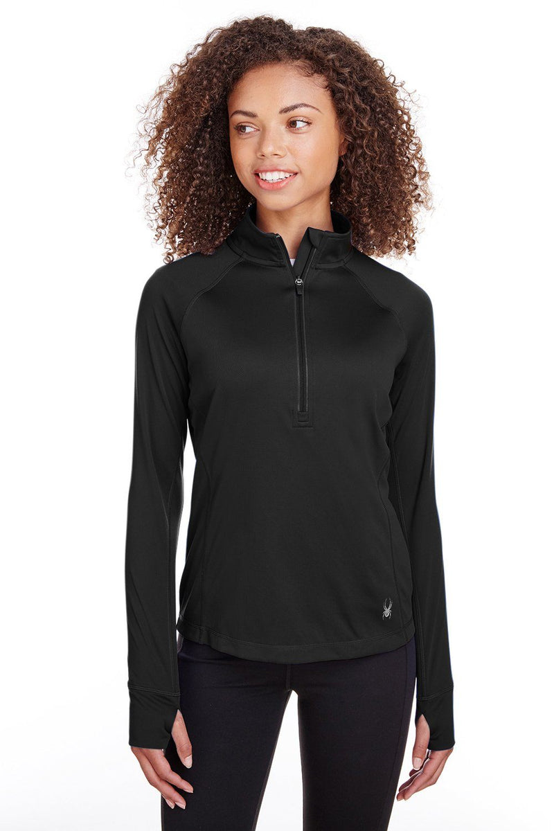 Spyder Womens Freestyle 1/4 Zip Sweatshirt Womens Sweatshirts Spyder XS Black