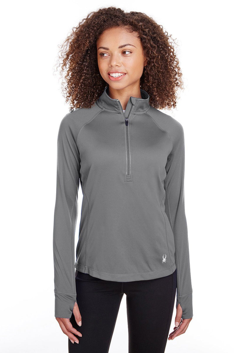 Spyder Womens Freestyle 1/4 Zip Sweatshirt Womens Sweatshirts Spyder XS Grey