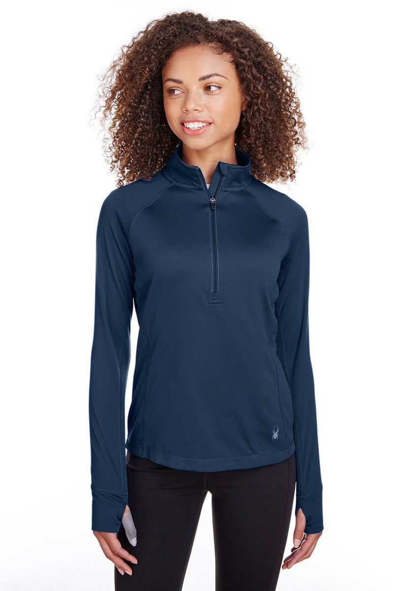Spyder Womens Freestyle 1/4 Zip Sweatshirt Womens Sweatshirts Spyder XS Navy Blue