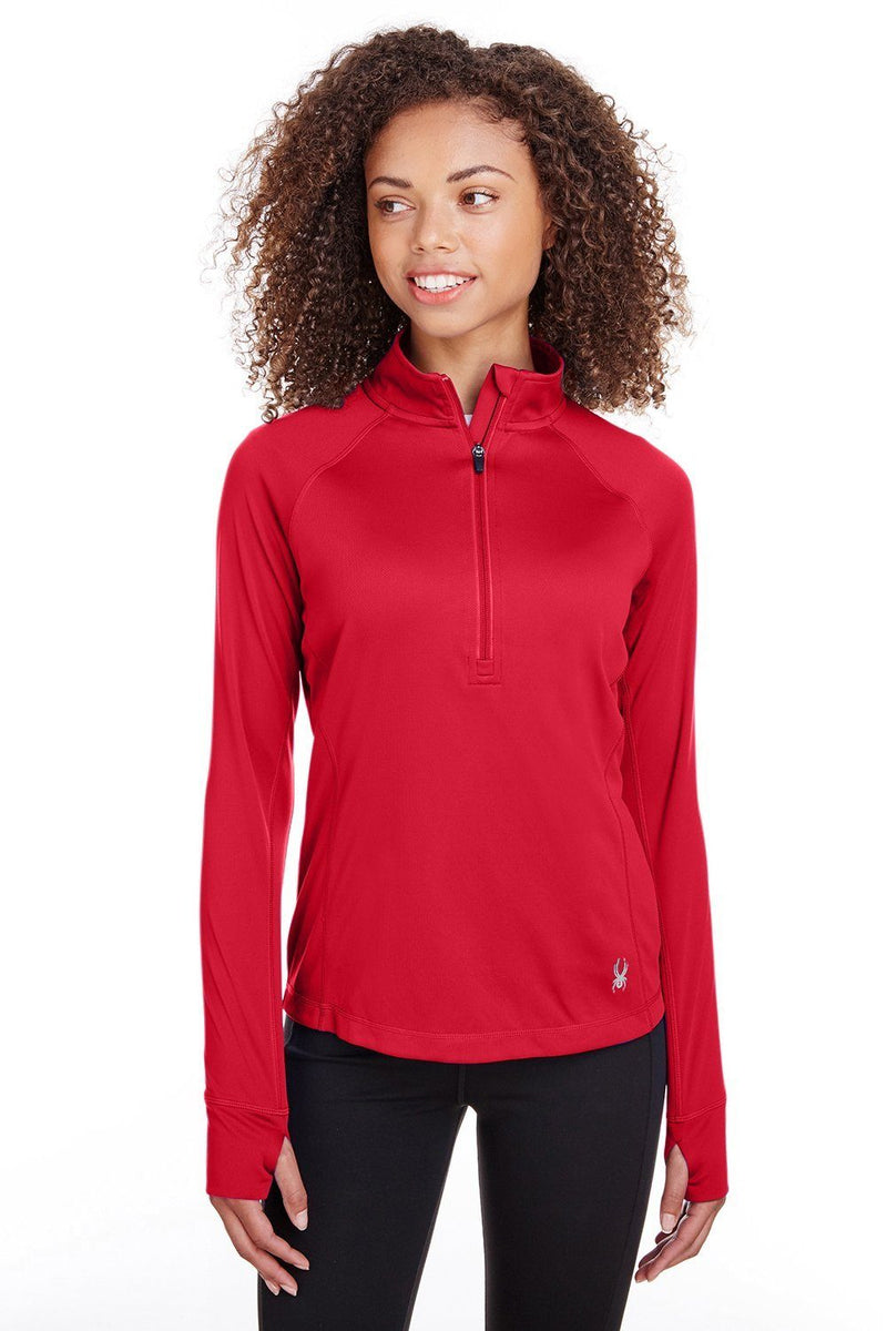 Spyder Womens Freestyle 1/4 Zip Sweatshirt Womens Sweatshirts Spyder XS Red