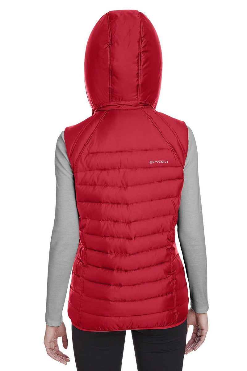 Brown Spyder Women's Supreme Full Zip Hooded Puffer Vest