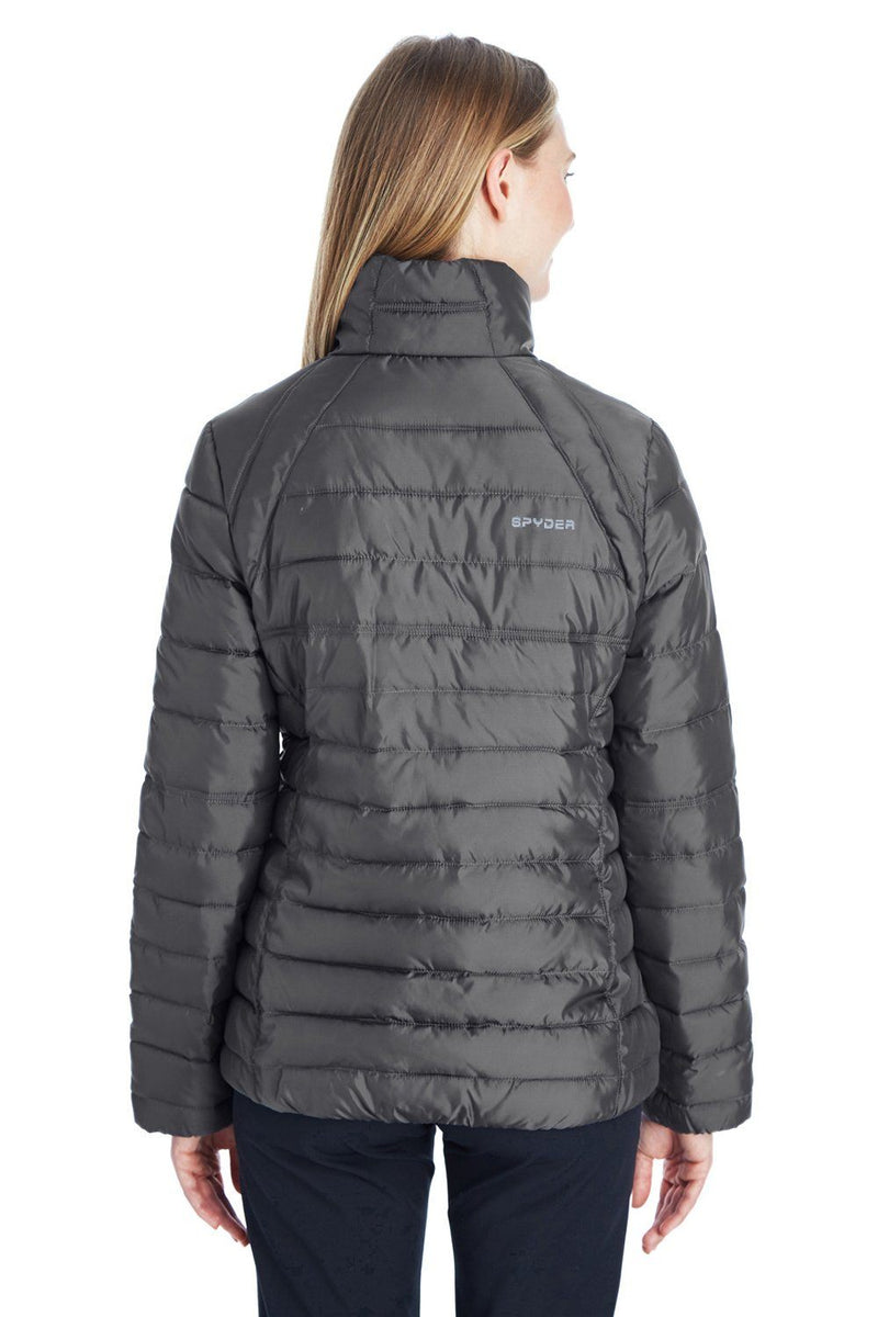 Dim Gray Spyder Women's Supreme Puffer Full Zip Jacket