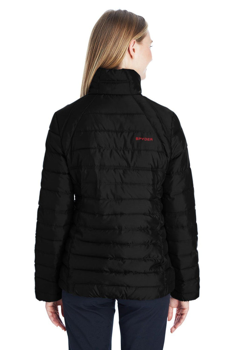 Black Spyder Women's Supreme Puffer Full Zip Jacket