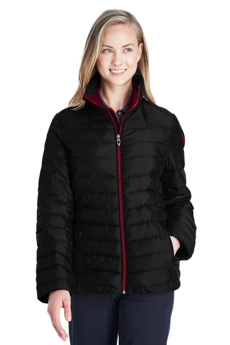 Spyder Womens Supreme Puffer Full Zip Jacket Womens Casual Jackets Spyder XS Black
