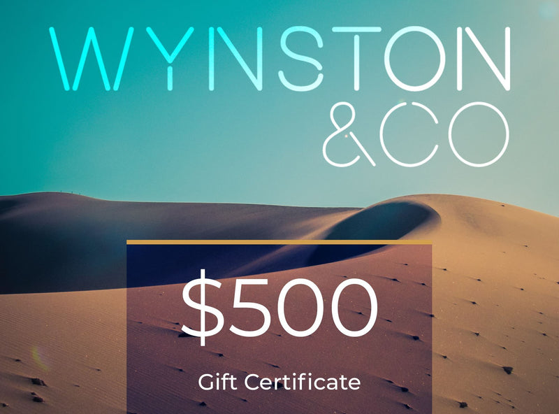 Medium Aquamarine Wynston & Co Gift Certificate
