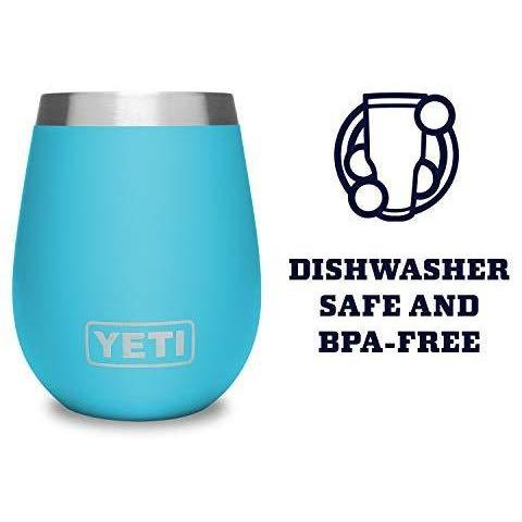 Medium Turquoise YETI Rambler 10 Oz Wine Tumbler