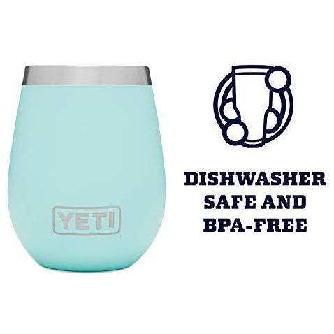 Powder Blue YETI Rambler 10 Oz Wine Tumbler