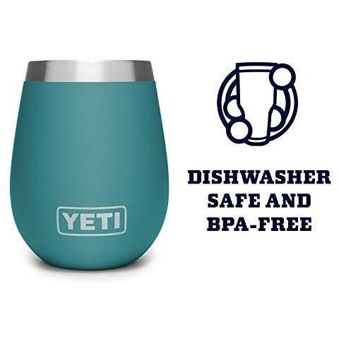 Steel Blue YETI Rambler 10 Oz Wine Tumbler