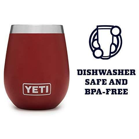 Saddle Brown YETI Rambler 10 Oz Wine Tumbler