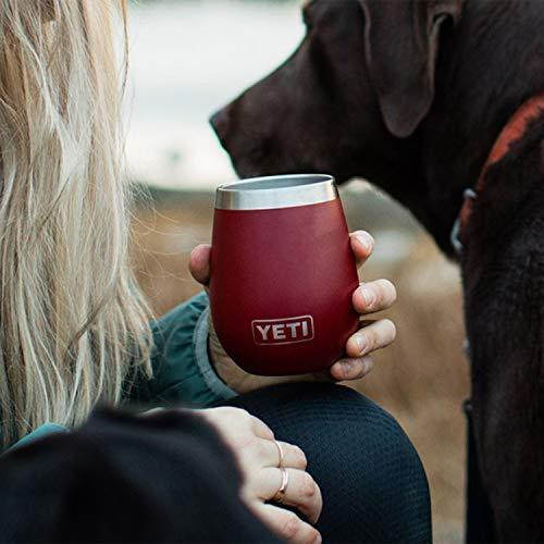 Dark Red YETI Rambler 10 Oz Wine Tumbler