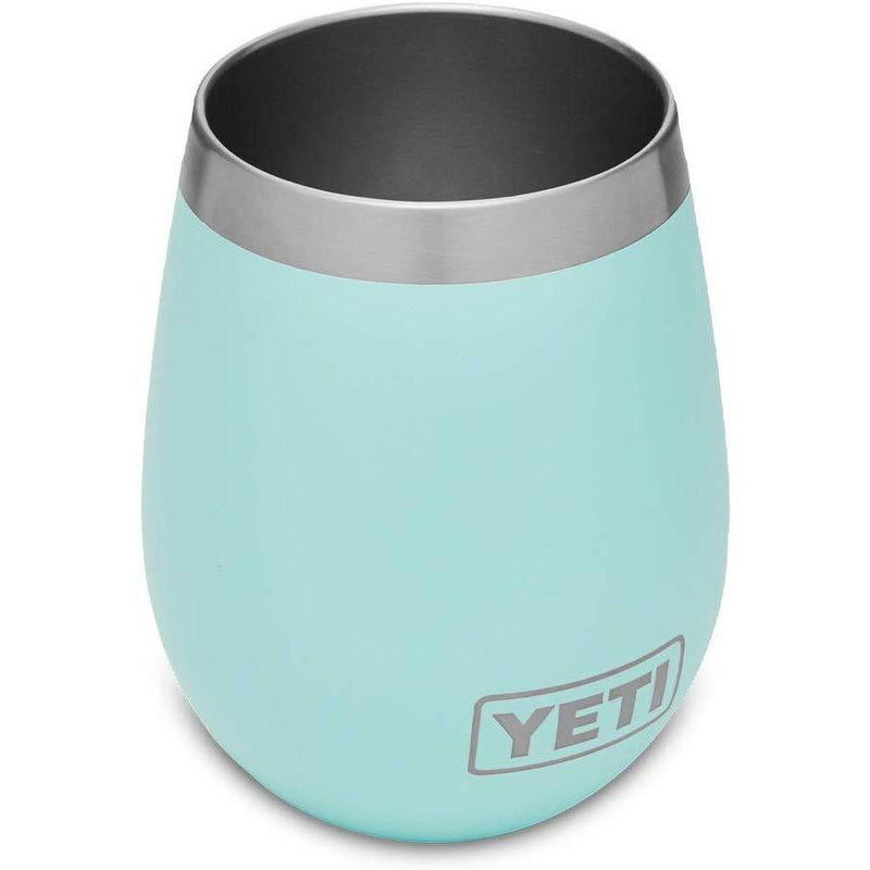 Light Blue YETI Rambler 10 Oz Wine Tumbler