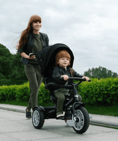 BENTLEY CONVERTIBLE STROLLER TRICYCLE ENCOURAGES PARENT CHILD EXERCISE