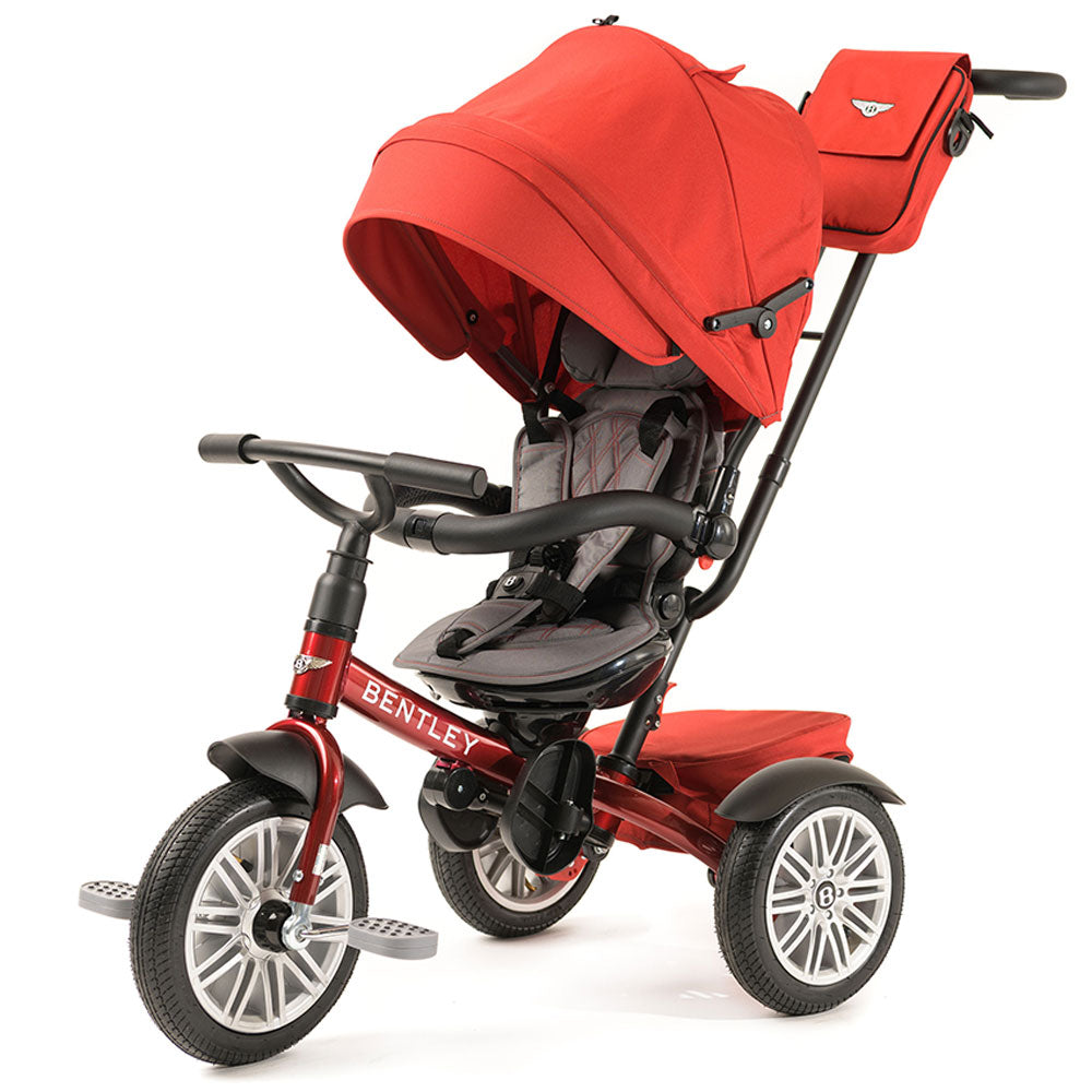 DRAGON RED BENTLEY 6 IN 1 STROLLER TRIKE - Convertible Bentley Trike