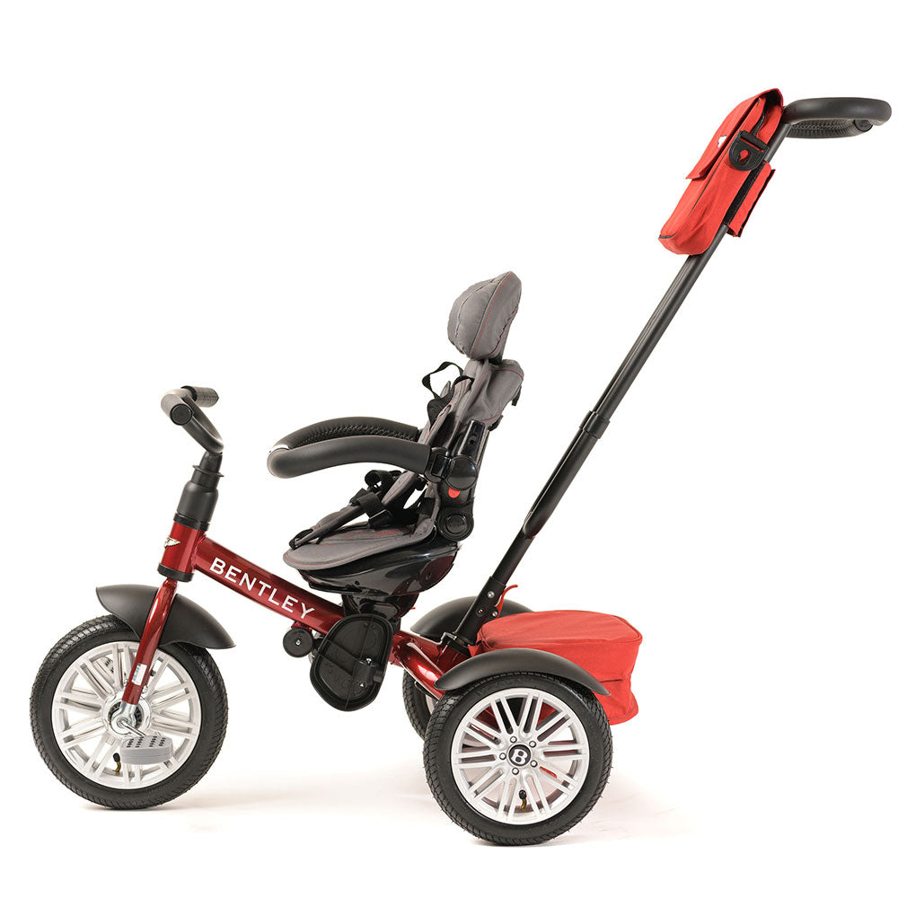 DRAGON RED BENTLEY 6 IN 1 STROLLER TRIKE - Luxury Bentley Trikes for kids
