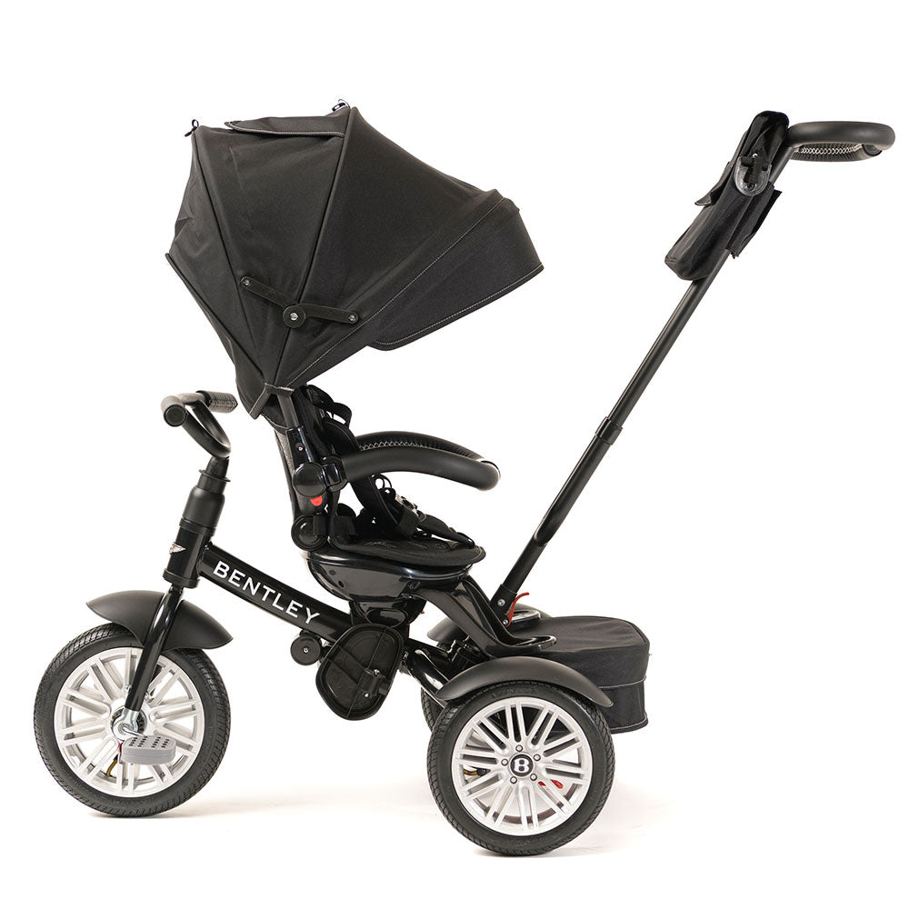 ONYX BLACK BENTLEY 6 IN 1 STROLLER TRIKE - Luxury Bentley Kids Trike