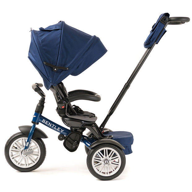 SEQUIN BLUE BENTLEY 6 IN 1 STROLLER TRIKE - Luxury Bentley Stroller Trike