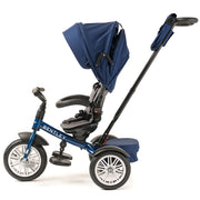 SEQUIN BLUE BENTLEY 6 IN 1 STROLLER TRIKE - Luxury Bentley Stroller Trike for kids