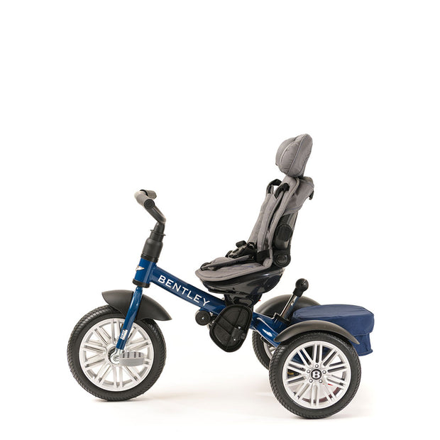 SEQUIN BLUE BENTLEY 6 IN 1 STROLLER TRIKE - Luxury Bentley Stroller Trikes