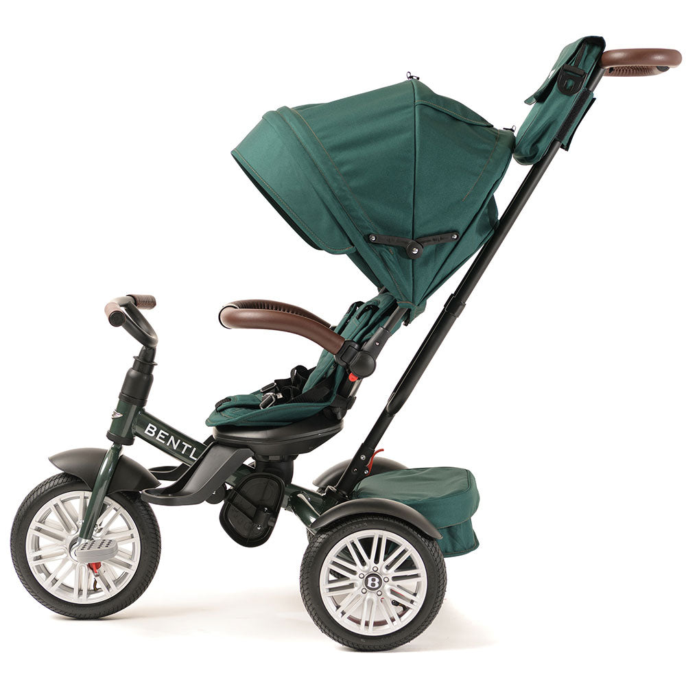 SPRUCE GREEN BENTLEY 6 IN 1 STROLLER TRIKE - Luxury Bentley Trikes