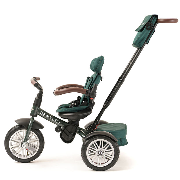 SPRUCE GREEN BENTLEY 6 IN 1 STROLLER TRIKE - Luxury Bentley Trike with push handle