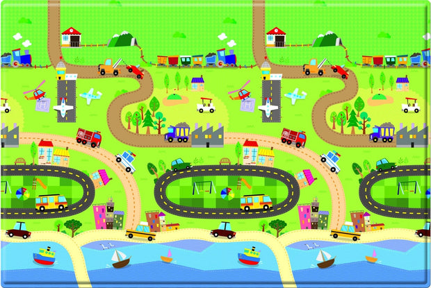 Baby Care Playmat - Happy Village - Large baby playmat
