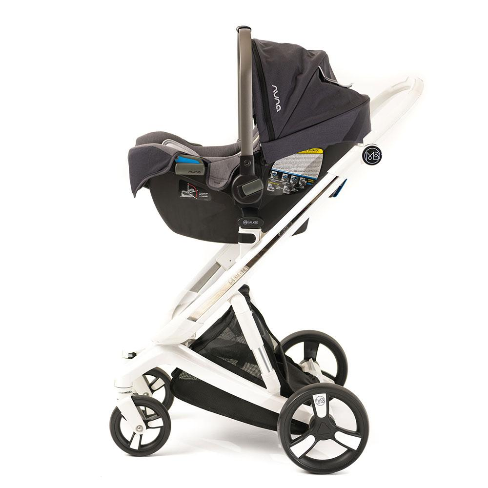 Milkbe Bundle - A Pram, a Buggy, a Pushchair - Black