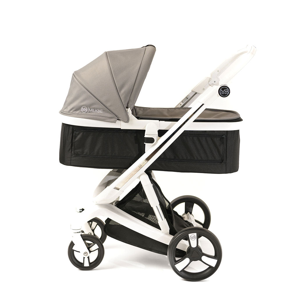 Gray Milkbe Carry Cot for Smart Milkbe Stroller
