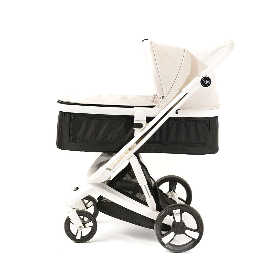 Beige Milkbe Carry Cot for Self-Stopping Milkbe Stroller