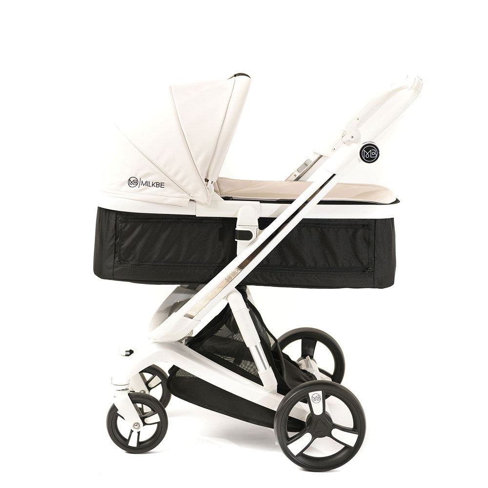 Beige Milkbe Carry Cot for Smart Milkbe Stroller
