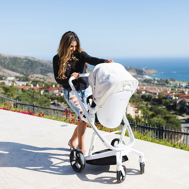 Stylish Beige Milkbe Lullaby Stroller - Compact Stroller