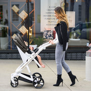 Black Milkbe Lullaby Stroller - Stylish Self Stopping Stroller