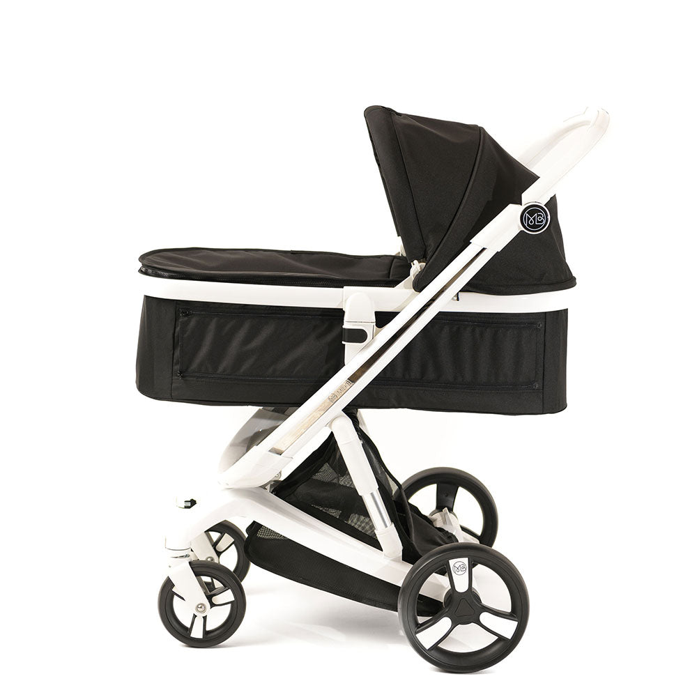 Black Milkbe Carry Cot - Self-Stopping Milkbe Stroller