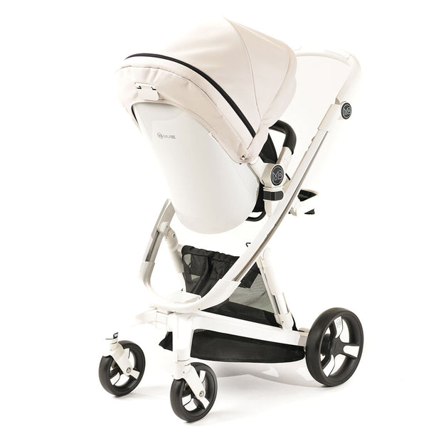 Luxury Milkbe Lullaby Self-Stopping Stroller - Beige