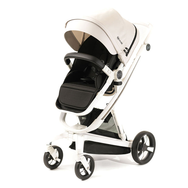 Beige Milkbe Lullaby Self-Stopping Stroller