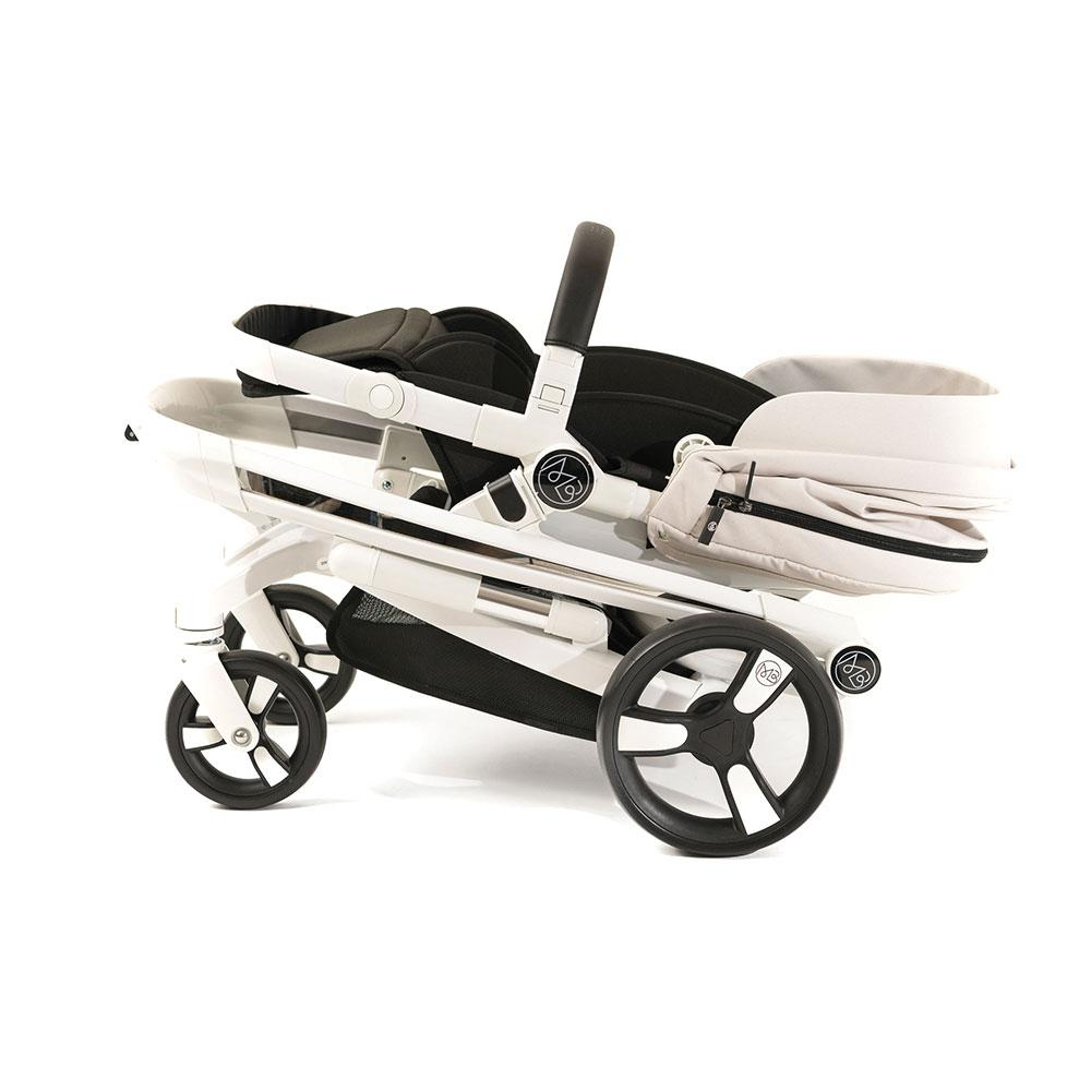 Folding Milkbe Stroller - Bundle - A Pram, a Buggy, a Pushchair - Beige