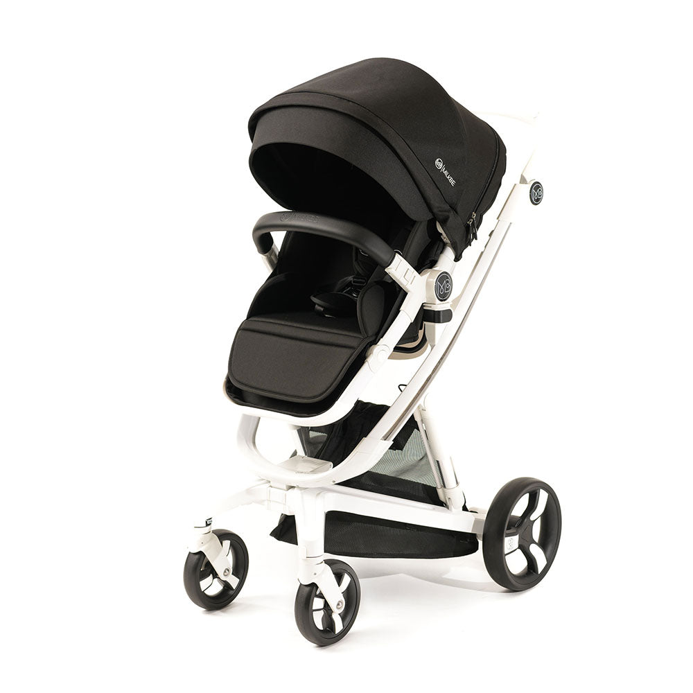 Black Milkbe Lullaby Self-Stopping Stroller