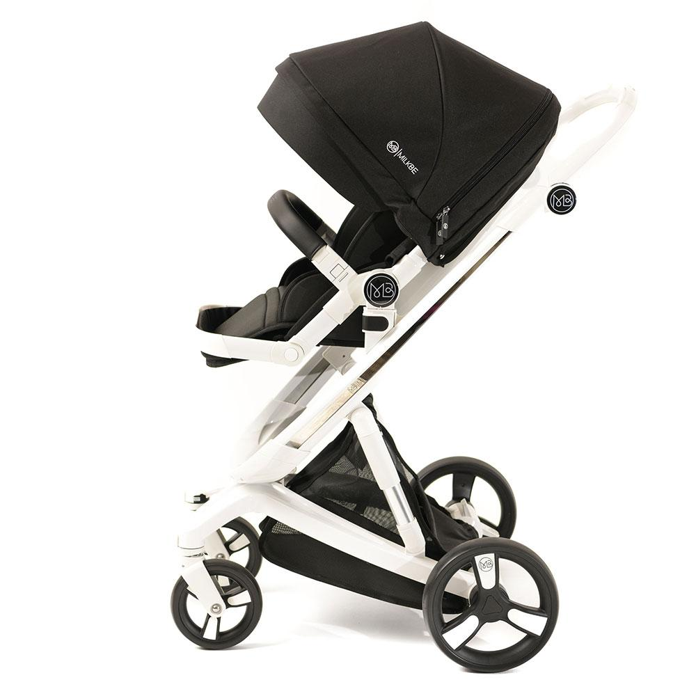 Milkbe Bundle Includes a Pram, a Buggy, a Pushchair - Black