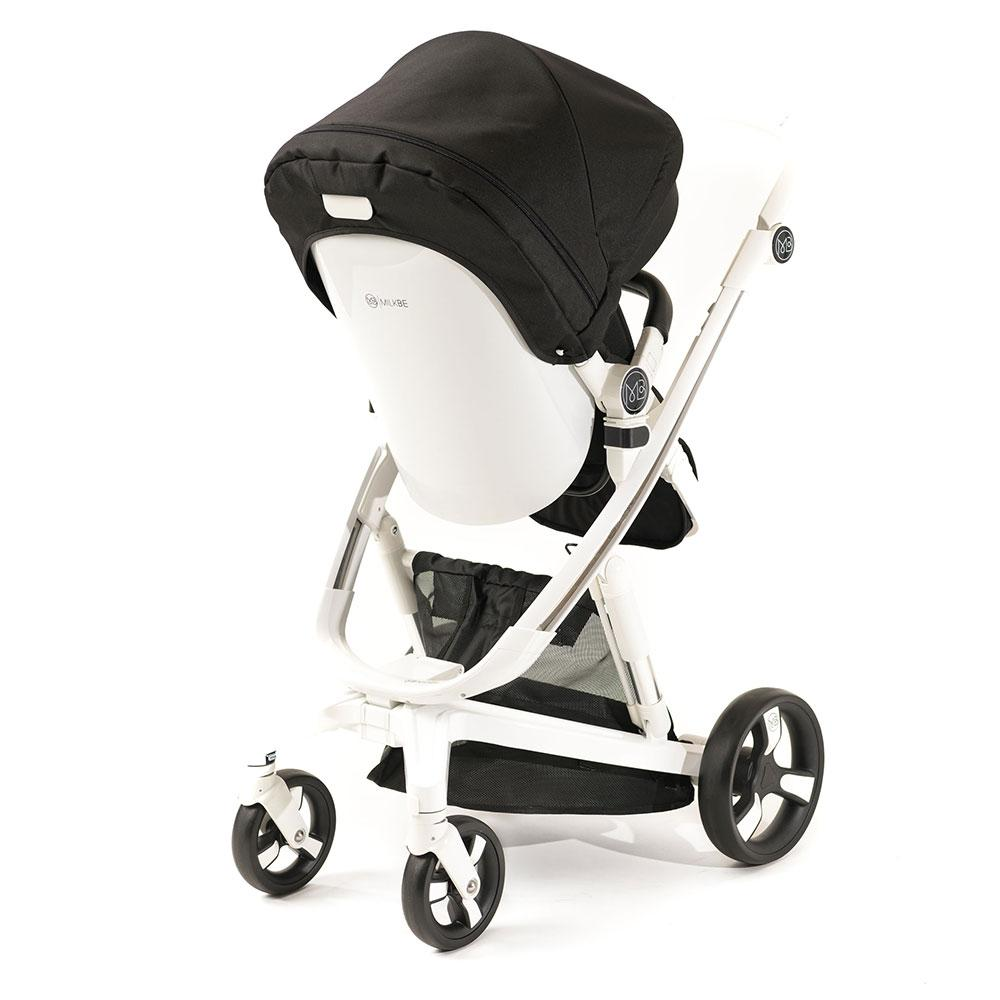 Luxury Milkbe Bundle - A Pram, a Buggy, a Pushchair - Black