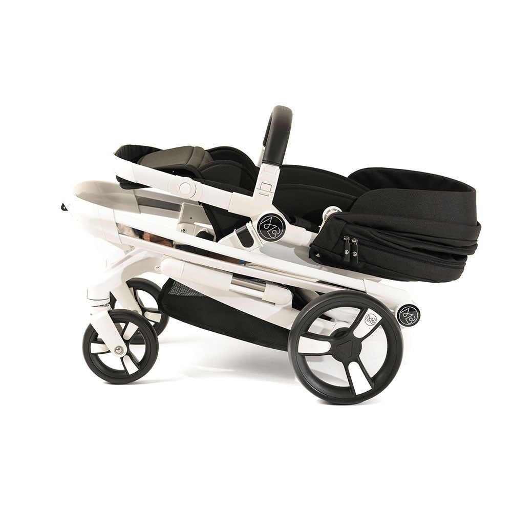 Black Milkbe Lullaby Stroller - Folding Self Stopping Stroller