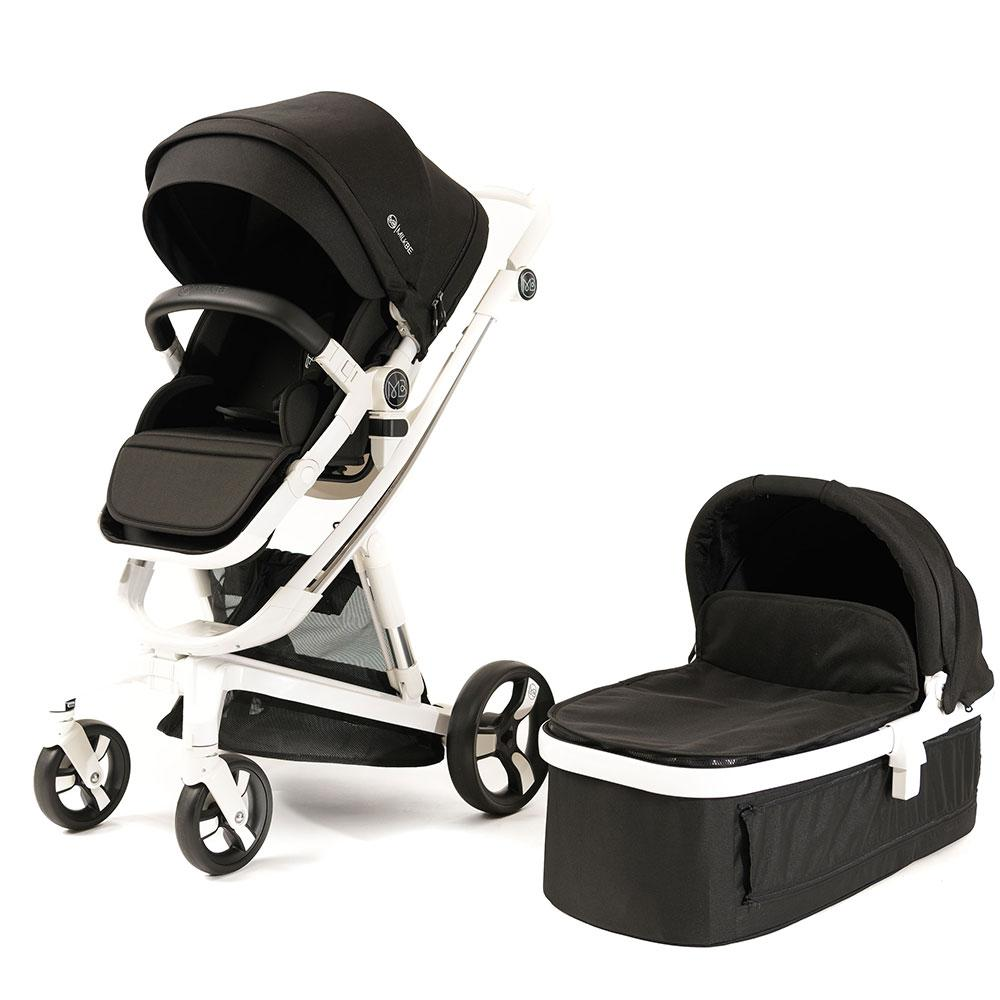 Milkbe Stroller Bundle - A Pram, a Buggy, a Pushchair - Black