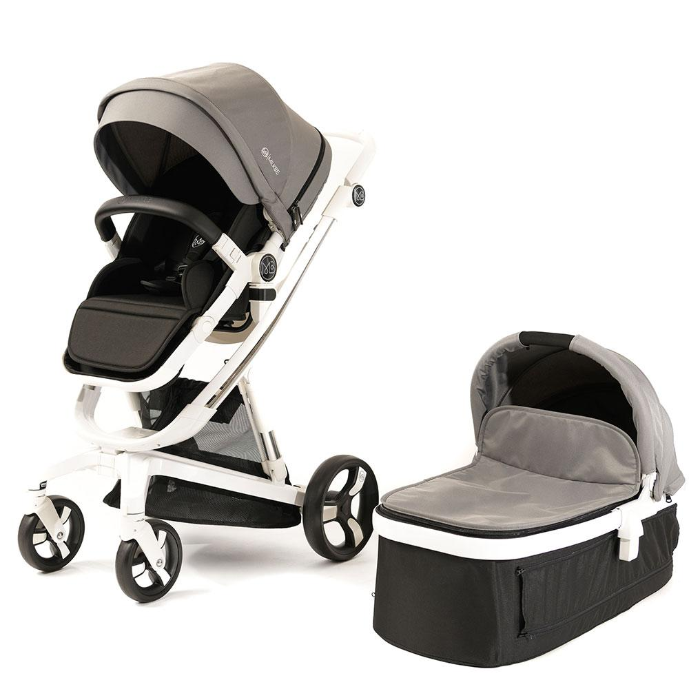 Milkbe Bundle - A Pram, a Buggy, a Pushchair - Grey