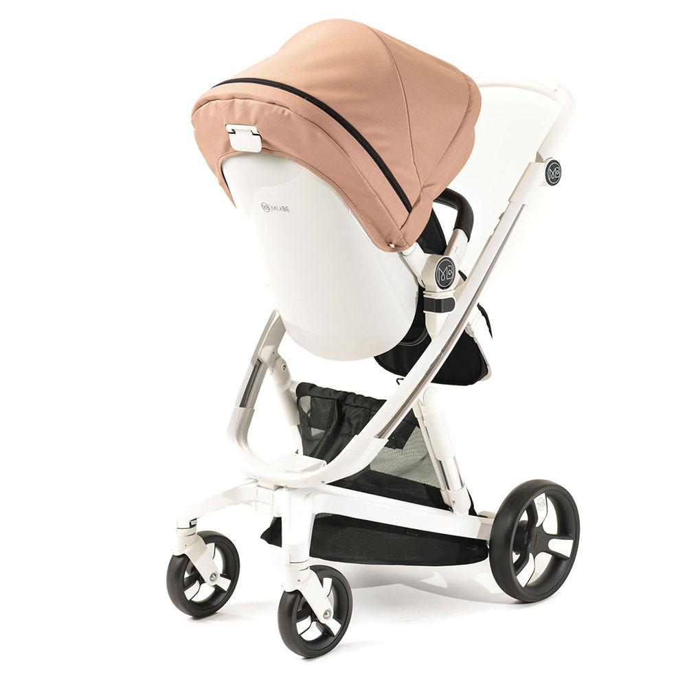 A Pram, a Buggy, a Pushchair - Gold - Milkbe Bundle