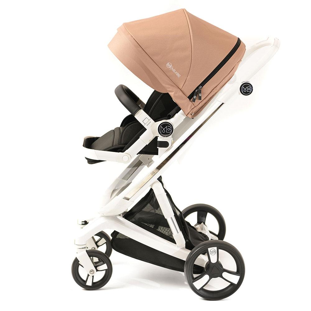Smart Milkbe Bundle - a Pram, a Buggy, a Pushchair - Gold
