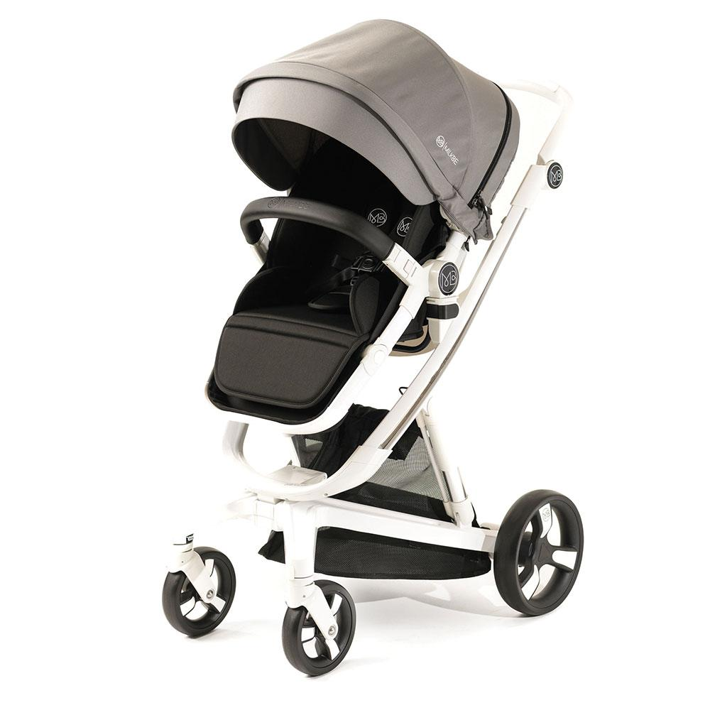 A Pram, a Buggy, a Pushchair - Grey - Milkbe Bundle