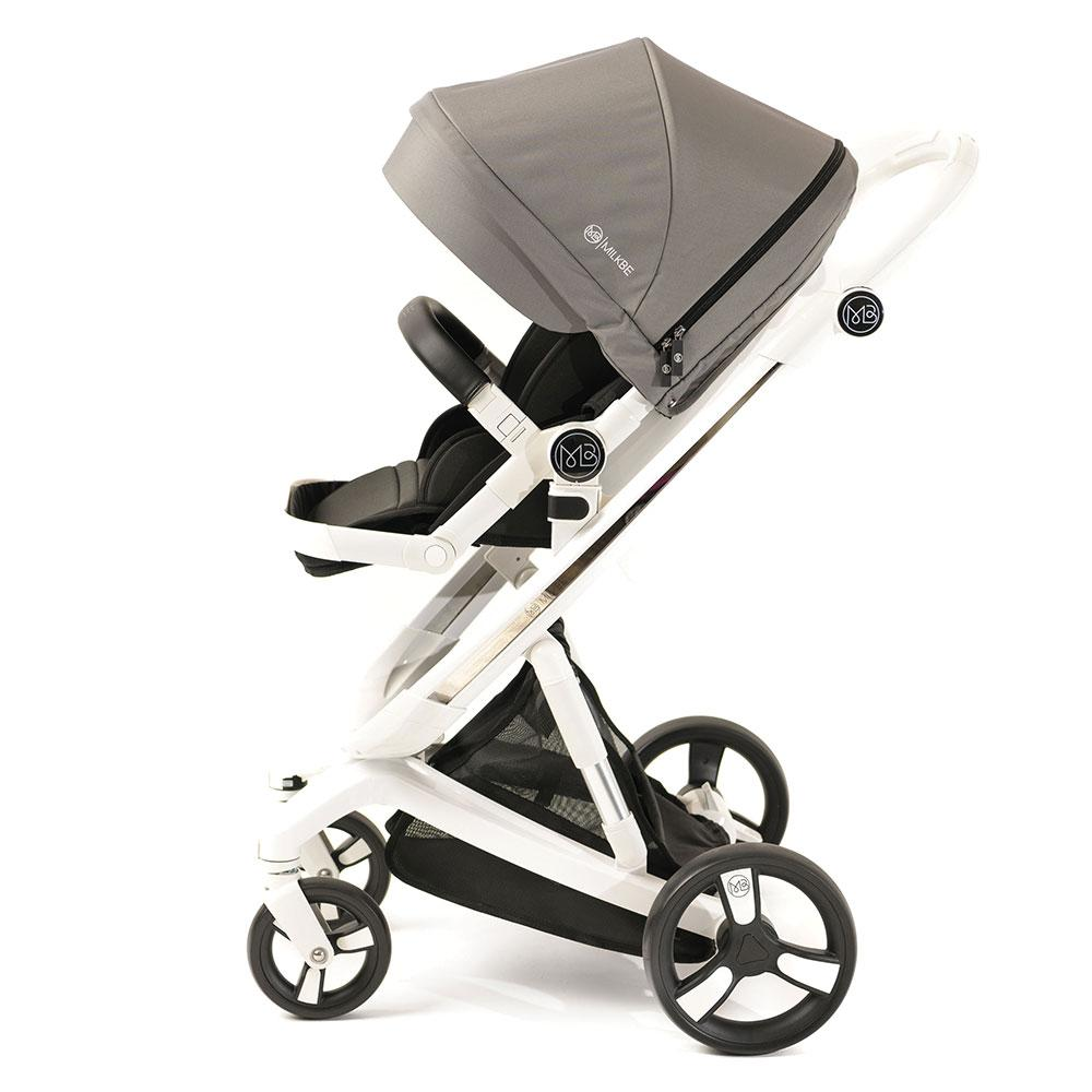 3 in 1 Milkbe Bundle - A Pram, a Buggy, a Pushchair - Grey