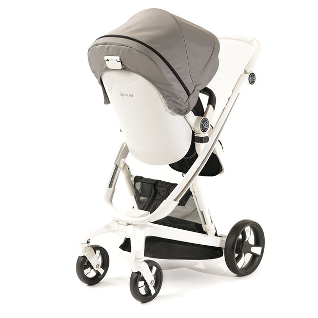 Gray Milkbe Lullaby Auto-Stopping Stroller