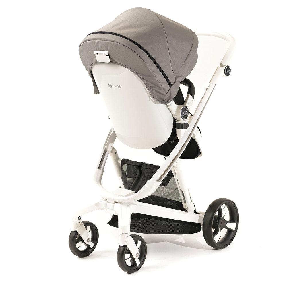 Smart Milkbe Bundle - A Pram, a Buggy, a Pushchair - Grey
