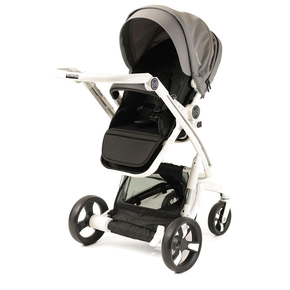 Milkbe Stroller Bundle - A Pram, a Buggy, a Pushchair - Grey