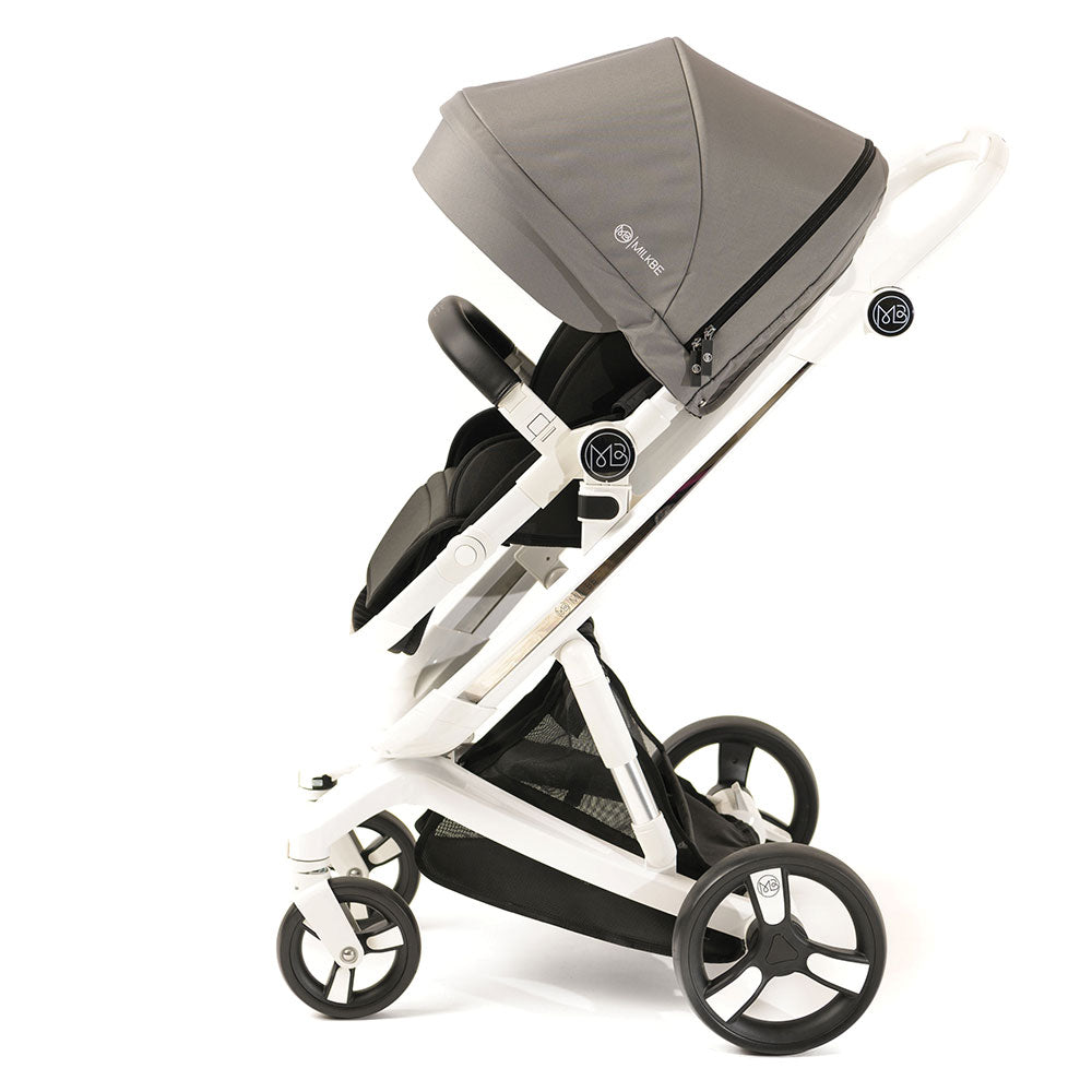 Milkbe Lullaby Self-Stopping Stroller - Gray